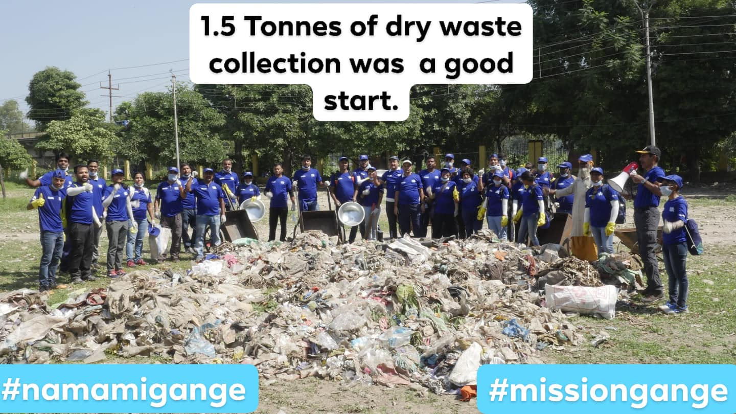 1.5 Ton of dry waste collection was a good start; Location : Haridwar; Photo by: