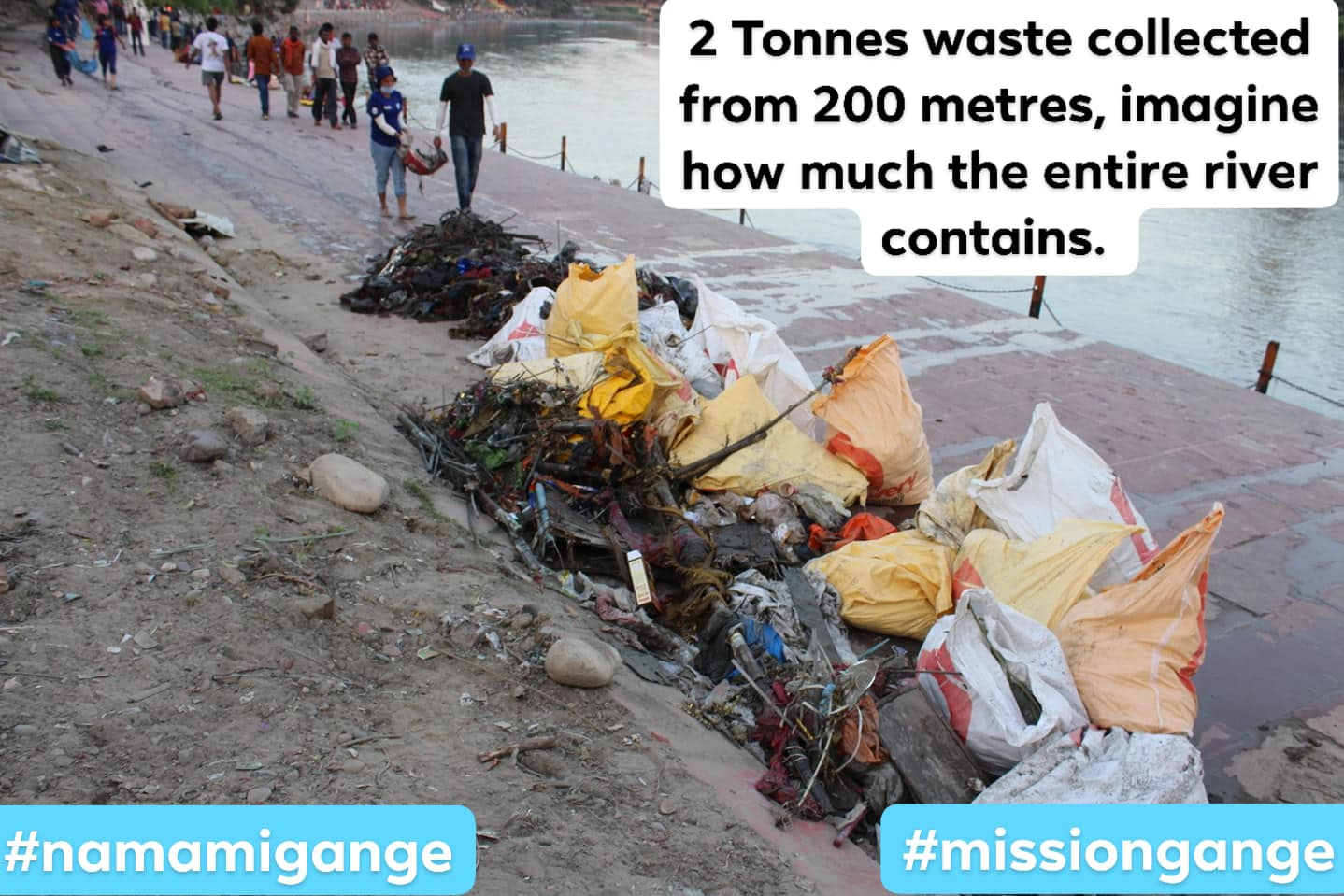 2 Tonnes found from 200 meters... Imagine how much the entire river contains; Location : Haridwar; Photo by:
