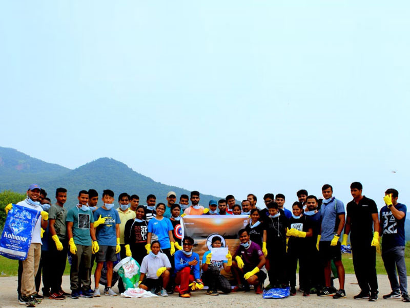 Team Mission Ganga at Haridwar; Location : Haridwar; Photo by: